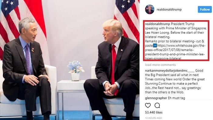 donald trump dan perdana menteri singapore
