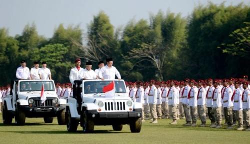 Prabowo Pimpin Upacara Kemerdekaan di Lapangan Hambalang