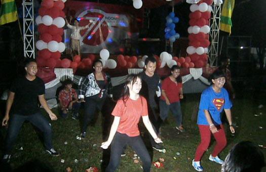 Malam Puncak Perayaan HUT Kemerdekaan RI di RT 02 Cluster Bukit Pinus