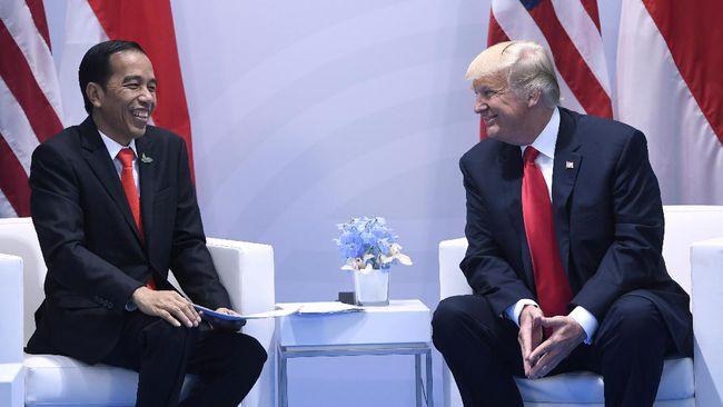 Foto Presiden Jokowi Diganti oleh Admin Instagramnya Presiden Donald Trump?