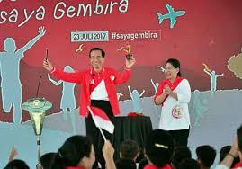 presiden jokowi main sulap hari anak nasional