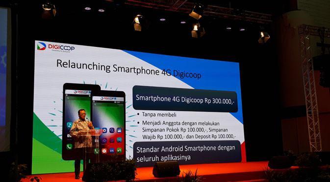 Re-launching Smartphone DigiCoop 300 ribuan