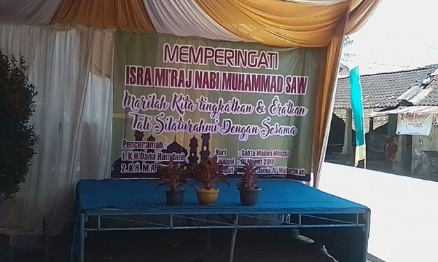 Masjid Al-Mubarokah, Bantarjati Gelar Peringatan Isra' Mi'raj Nabi Muhammad SAW