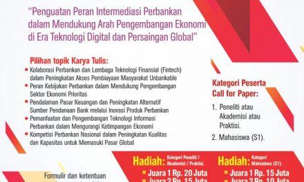 OJK Call For Paper & Seminar Nasional  Riset Kebijakan Perbankan 2019