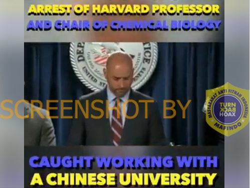 [SALAH] Terlibat Pembuatan COVID-19 di China, FBI Menangkap Profesor Harvard
