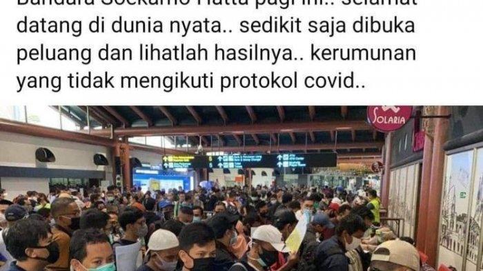 Sempat Viral di Medsos, Ini Fakta Antrean di Terminal 2 Bandara Soekarno-Hatta