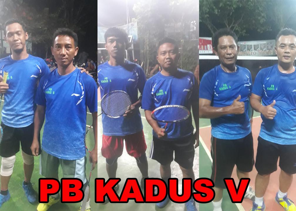 PB Kadus V dalam turnamen bulu tangkis Kades Cup I Desa Singajaya
