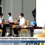 Bukan Pejabat, Ini Orang yang Disuntik Vaksin Covid-19 Pertama Kali Bareng Presiden Jokowi