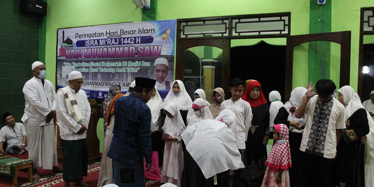 Ingatkan Pentingnya Shalat Berjamaah dan Kepedulian Umat Terhadap Anak Yatim, DKM Masjid Al-Amanah Gelar Peringatan Isra Mi'raj dan Nisfu Sya'ban